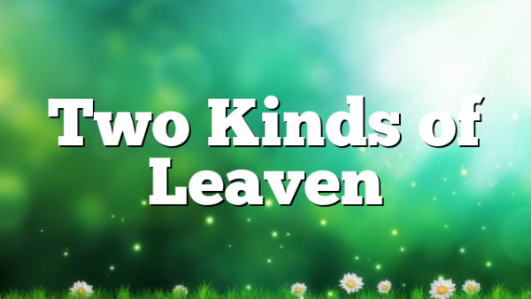 Two Kinds of Leaven