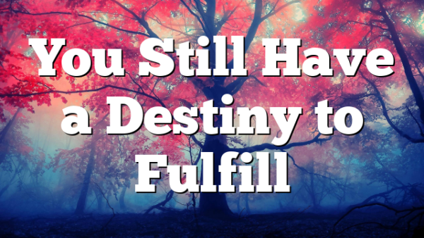 You Still Have a Destiny to Fulfill